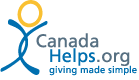Canada Helps Dot Org logo and link