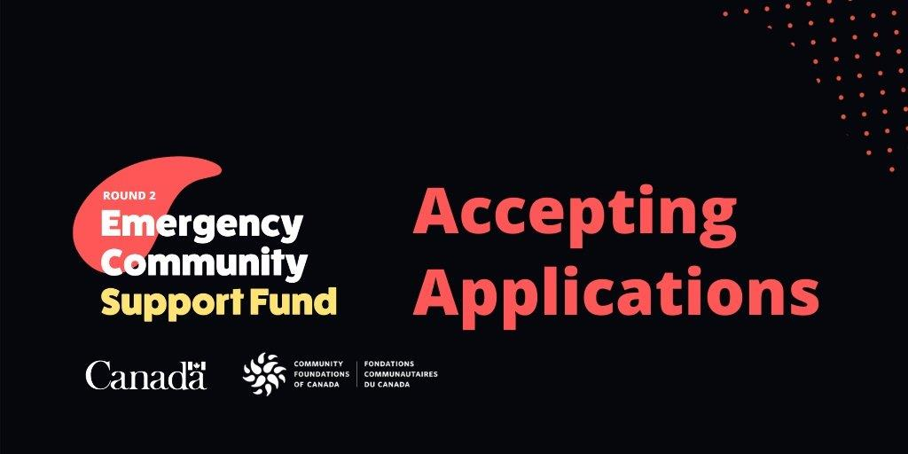 Round 2 - Emergency Community Support Fund - Accepting Applications